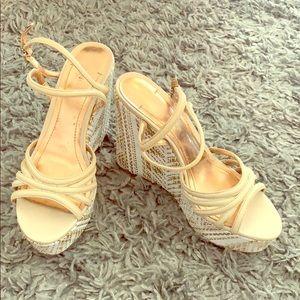 BCBG sandal wedges